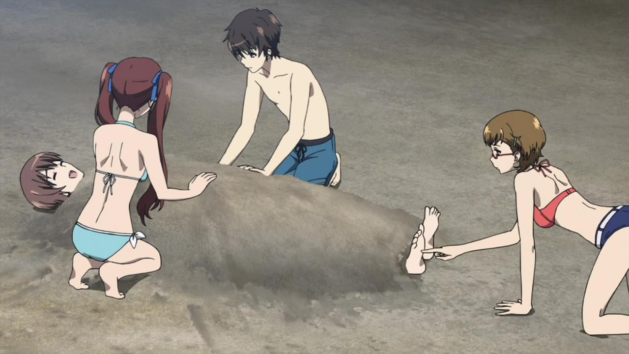 Tickling anime sex scene