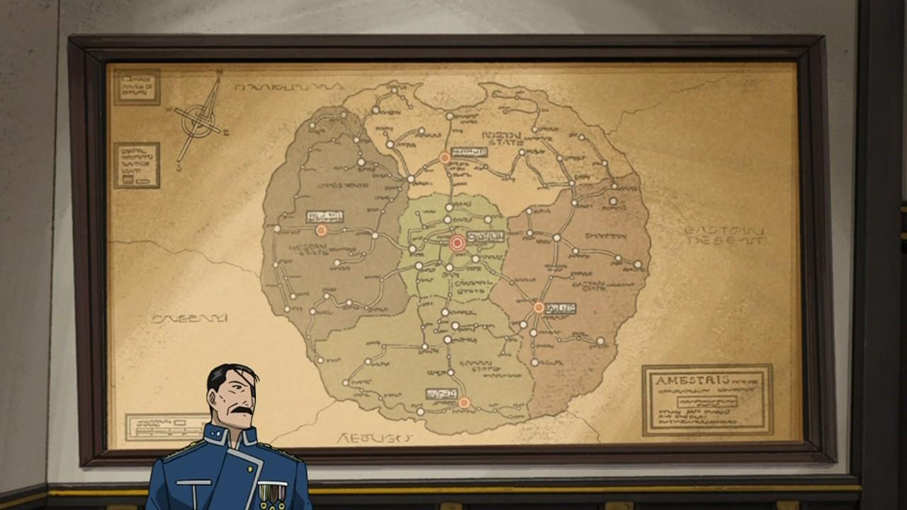 Full Metal Alchemist World Map.Fullmetal Alchemist Brotherhood 01 Random Curiosity