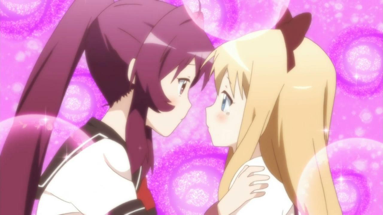 Yuru Yuri Kiss Gif